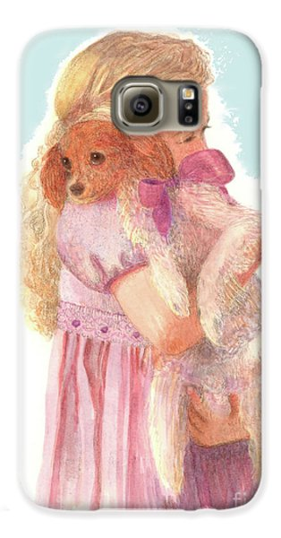 Galaxy S6 Case featuring the painting The Hug by Nancy Lee Moran