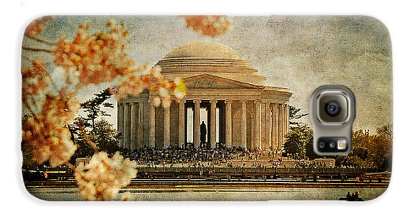 Jefferson Memorial Galaxy S6 Case - The Jefferson Memorial by Lois Bryan