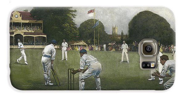 Cricket Galaxy S6 Case - The Kent Eleven Champions, 1906 by Albert Chevallier Tayler