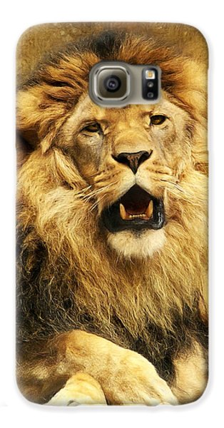 Lion Galaxy S6 Case - The King by Angela Doelling AD DESIGN Photo and PhotoArt