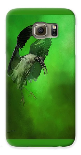 Stork Galaxy S6 Case - The Landing by Marvin Spates
