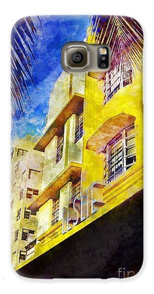 The Leslie Hotel South Beach Galaxy S6 Case by Jon Neidert