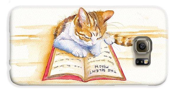 Cat Galaxy S6 Case - The Lesson by Debra Hall