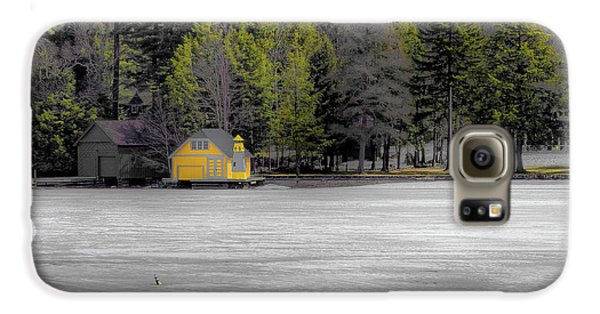 Galaxy S6 Case featuring the photograph The Lighthouse On Frozen Pond by David Patterson