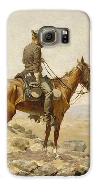 Horse Galaxy S6 Case - The Lookout by Frederic Remington