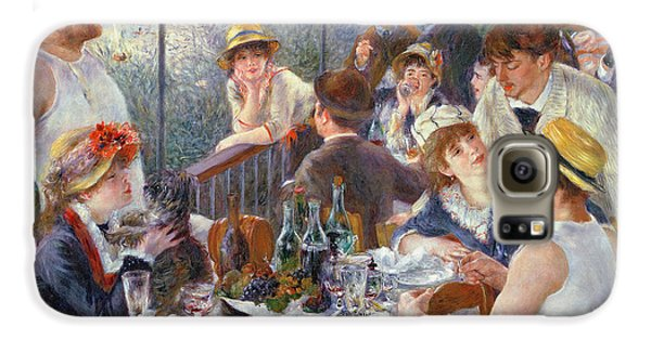 Food And Beverage Galaxy S6 Case - The Luncheon Of The Boating Party by Pierre Auguste Renoir