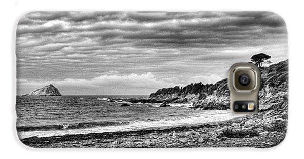 Sky Galaxy S6 Case - The Mewstone, Wembury Bay, Devon #view by John Edwards