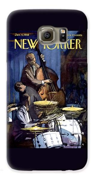 Largemouth Bass Galaxy S6 Case - The New Yorker Cover - January 4th, 1958 by Arthur Getz