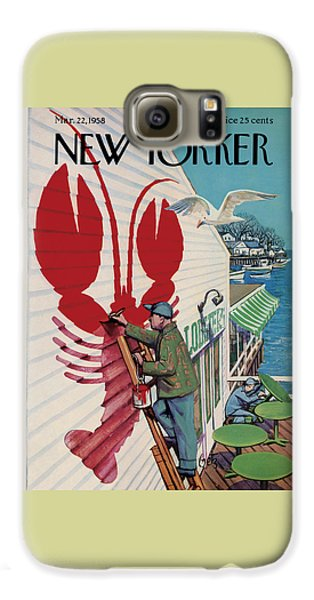 Food And Beverage Galaxy S6 Case - The New Yorker Cover - March 22nd, 1958 by Arthur Getz