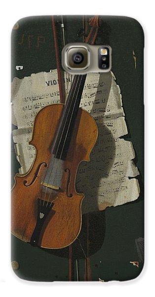Violin Galaxy S6 Case - The Old Violin by John Frederick Peto