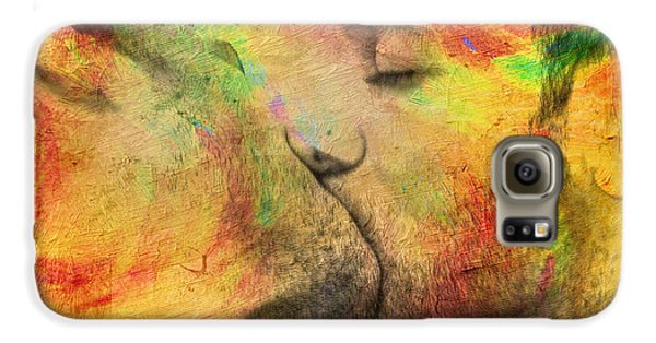 Nudes Galaxy S6 Case - The Passion Of A Kiss 1 by Mark Ashkenazi