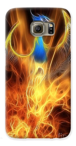 Dragon Galaxy S6 Case - The Phoenix Rises From The Ashes by John Edwards