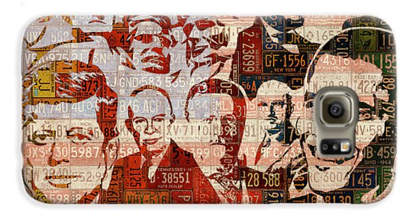 The Presidents Past Recycled Vintage License Plate Art Collage Galaxy S6 Case by Design Turnpike