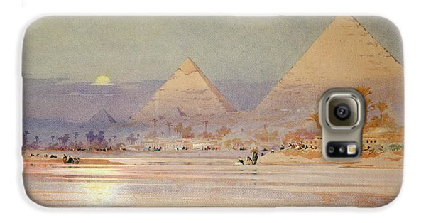 The Pyramids At Dusk Galaxy S6 Case by Augustus Osborne Lamplough