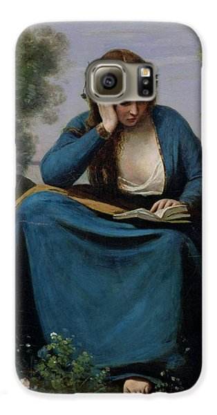 The Reader Crowned With Flowers Galaxy S6 Case by Jean Baptiste Camille Corot
