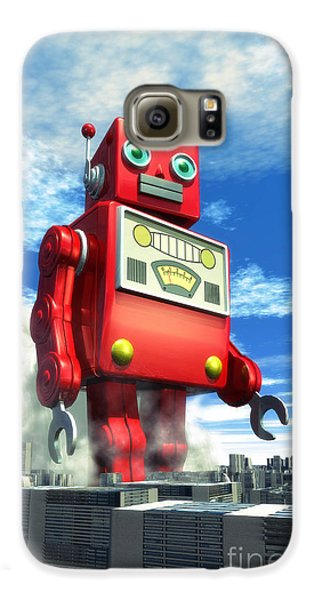 The Red Tin Robot And The City Galaxy S6 Case