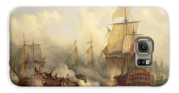 Boat Galaxy S6 Case - Unknown Title Sea Battle by Auguste Etienne Francois Mayer