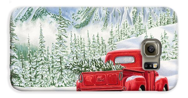 Automobile Galaxy S6 Case - The Road Home by Sarah Batalka