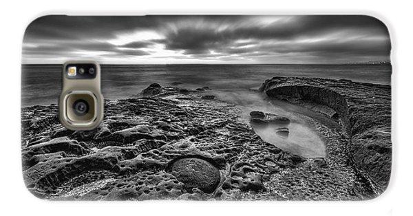 The Rugged California Coast - Black And White Galaxy S6 Case