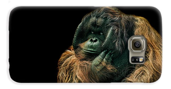 Ape Galaxy S6 Case - The Sceptic by Paul Neville