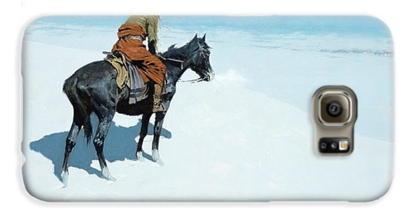Horse Galaxy S6 Case - The Scout Friends Or Foes by Frederic Remington