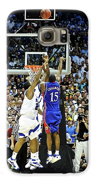 Larry Bird Galaxy S6 Case - The Shot, 3.1 Seconds, Mario Chalmers Magic, Kansas Basketball 2008 Ncaa Championship by Thomas Pollart
