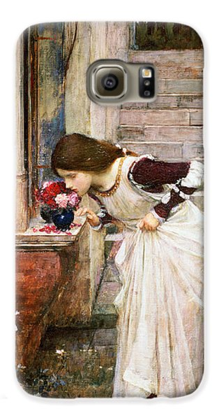 Rose Galaxy S6 Case - The Shrine by John William Waterhouse