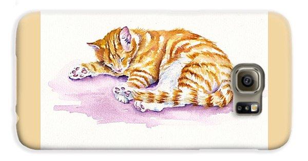 Cat Galaxy S6 Case - The Sleepy Kitten by Debra Hall