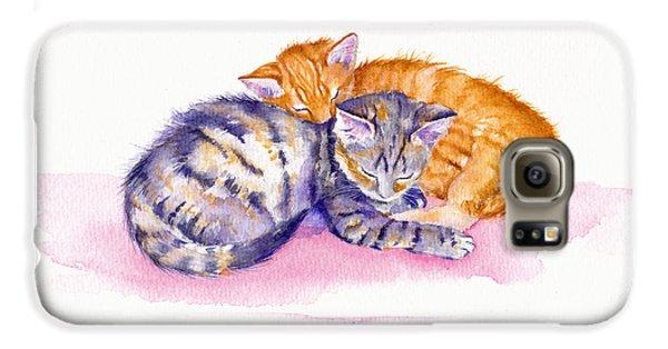 Cat Galaxy S6 Case - The Sleepy Kittens by Debra Hall