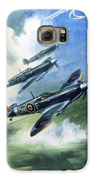 The Supermarine Spitfire Mark Ix Galaxy S6 Case by Wilfred Hardy