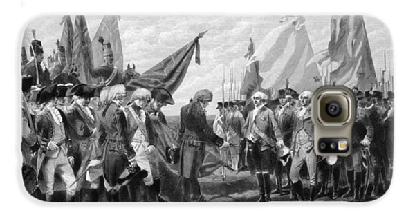 George Washington Galaxy S6 Case - The Surrender Of Cornwallis At Yorktown by War Is Hell Store