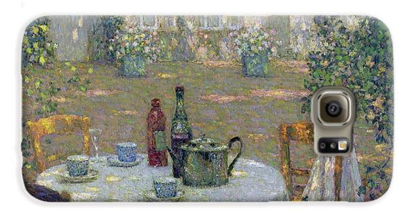 Garden Galaxy S6 Case - The Table In The Sun In The Garden by Henri Le Sidaner