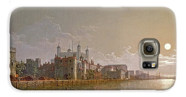 The Thames By Moonlight With Traitors' Gate And The Tower Of London Galaxy S6 Case by Henry Pether