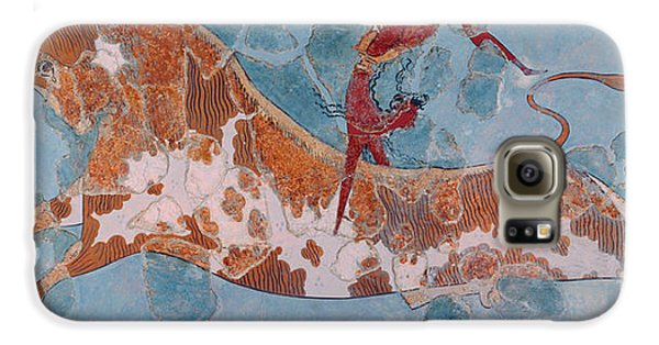 The Toreador Fresco, Knossos Palace, Crete Galaxy S6 Case by Greek School