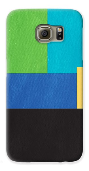 The View From Here- Modern Abstract Galaxy S6 Case by Linda Woods