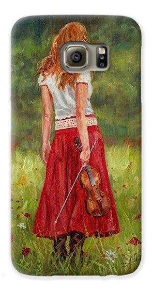 Music Galaxy S6 Case - The Violinist by David Stribbling