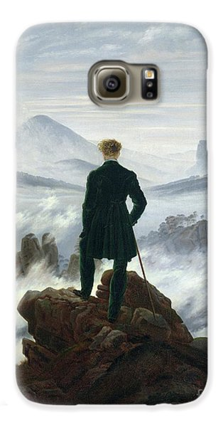 Landscape Galaxy S6 Case - The Wanderer Above The Sea Of Fog by Caspar David Friedrich