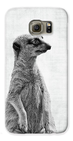 Meerkat Galaxy S6 Case - The Watcher by Delphimages Photo Creations