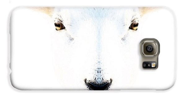Sheep Galaxy S6 Case - The White Sheep By Sharon Cummings by Sharon Cummings