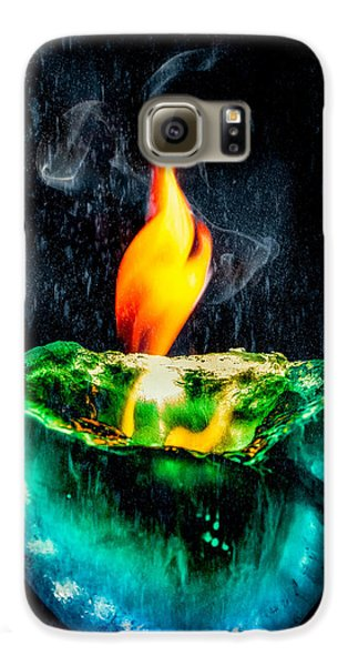 Galaxy S6 Case featuring the photograph The Winter Of Fire And Ice by Rikk Flohr