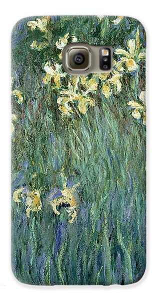 The Yellow Irises Galaxy S6 Case by Claude Monet