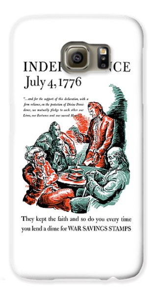 Thomas Jefferson Galaxy S6 Case - They Kept The Faith - Ww2 by War Is Hell Store