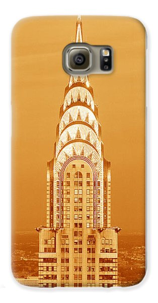 Chrysler Building At Sunset Galaxy S6 Case by Panoramic Images