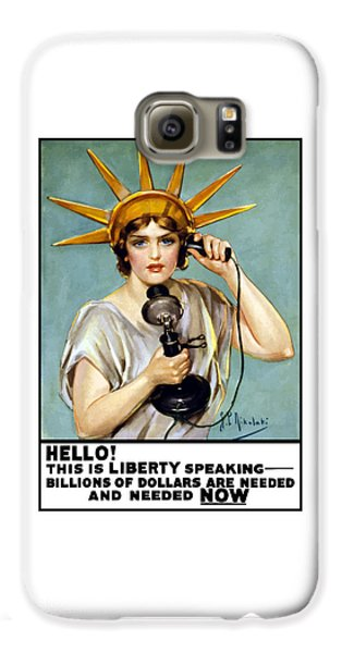 This Is Liberty Speaking - Ww1 Galaxy S6 Case by War Is Hell Store