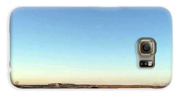 Galaxy S6 Case - Thornham Marsh Lit By The Setting Sun by John Edwards