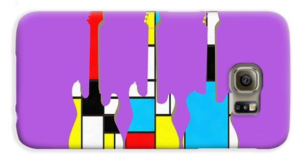 Three Guitars Modern Tee Galaxy S6 Case by Edward Fielding