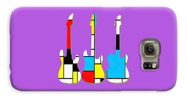 Three Guitars Modern Tee Galaxy S6 Case by Edward Fielding