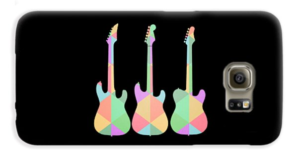 Three Guitars Triangles Tee Galaxy S6 Case by Edward Fielding