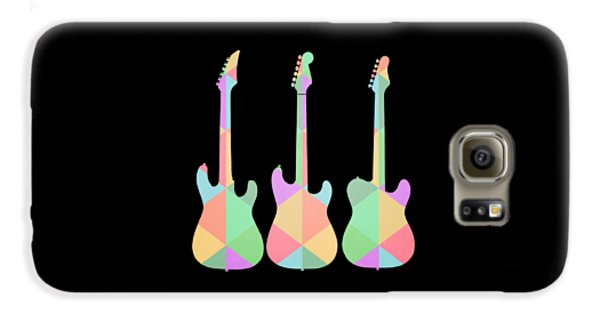 Guitar Galaxy S6 Case - Three Guitars Triangles Tee by Edward Fielding