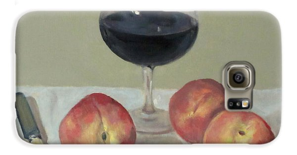 Three Peaches, Wine And Knife Galaxy S6 Case